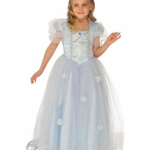 Rubies 279033 Halloween Girls Blue Ice Princess Costume - Medium Perspective: front