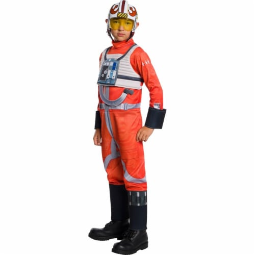 Rubies 279045 Halloween Star Wars Classic Boys X-Wing Fighter Pilot Costume - Medium Perspective: front