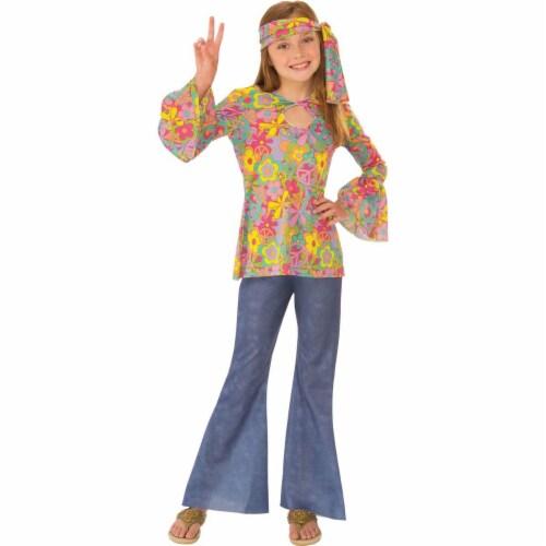 Rubies 279048 Halloween Girls Flower Child Costume - Medium Perspective: front