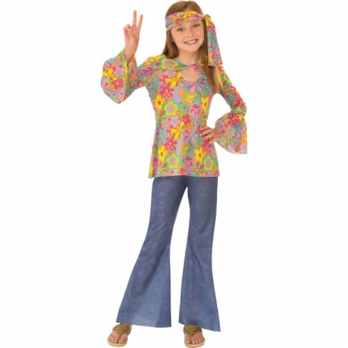 Rubies 279047 Halloween Girls Flower Child Costume - Large Perspective: front