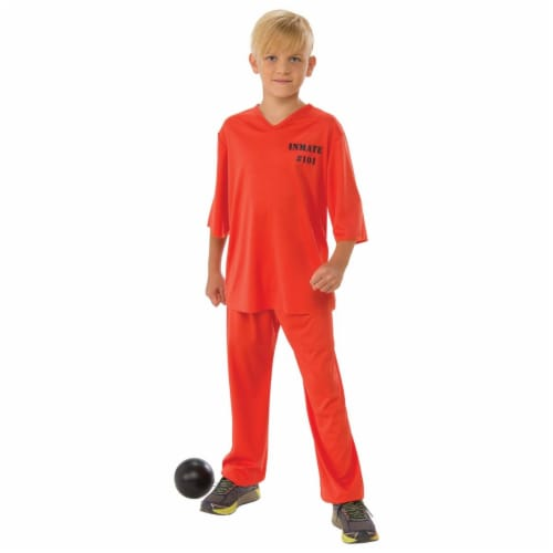 Rubies 279056 Halloween Boys Inmate 101 Costume - Large Perspective: front