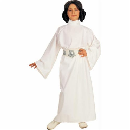 Rubie's Costume Co 6371 Star Wars Princess Leia Child Costume Size Small- Girls 4-6 Perspective: front