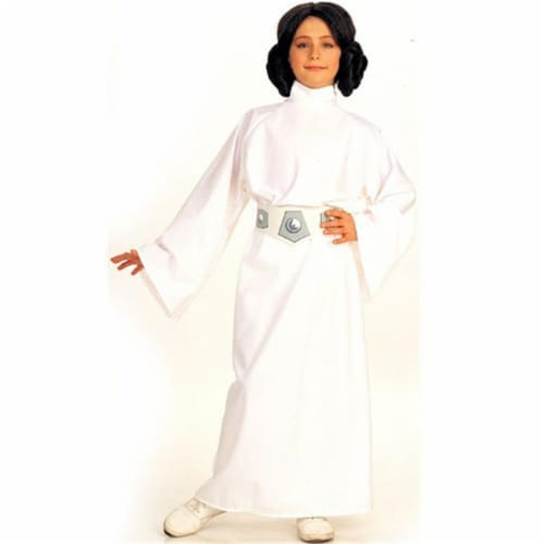 Rubies Costume Co 6371 Star Wars Princess Leia Child Costume Size Medium- Girls 8-10 Perspective: front