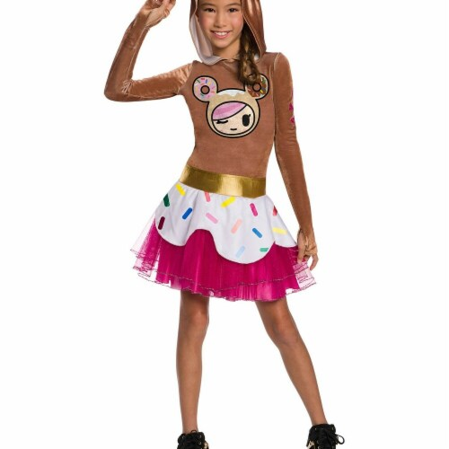 Rubies 279066 Halloween Tokidoki Girls Donutella Costume - Medium Perspective: front