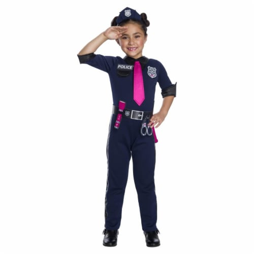 Rubies 279096 Halloween Girls Barbie Police Officer Costume - Medium Perspective: front