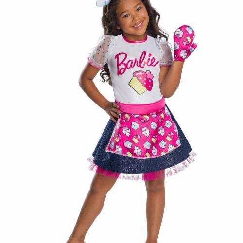 Rubies 279078 Halloween Girls Barbie Baker Chef Costume - Medium Perspective: front