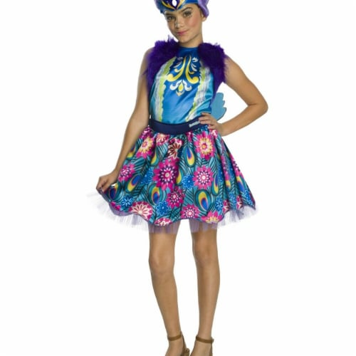 Rubies 279089 Halloween Enchantimals Patter Peacock Girls Costume - Small Perspective: front