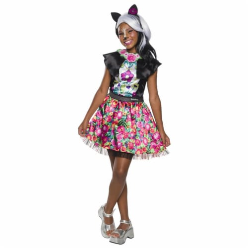 Rubies 279092 Halloween Enchantimals Sage Skunk Girls Costume - Medium Perspective: front