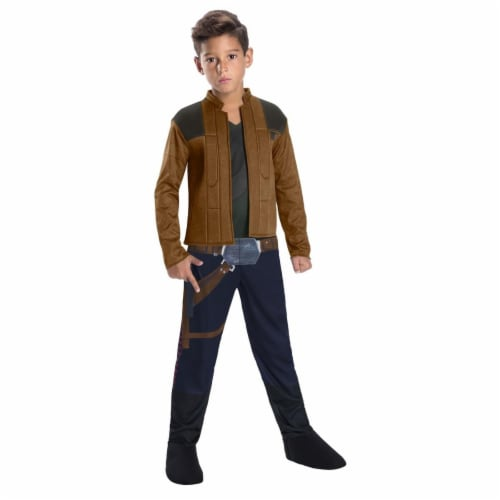 Rubies 266352 Halloween Solo A Star Wars Story-Han Solo Boys Costume - Small Perspective: front