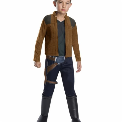 Rubies 266368 Halloween Solo A Star Wars Story-Han Solo Deluxe Boys Costume - Medium Perspective: front