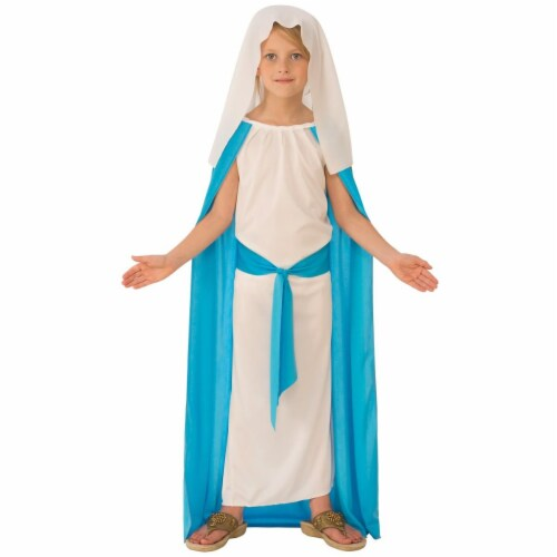 Rubies 275266 Christmas Girls Mary Costume - Medium Perspective: front