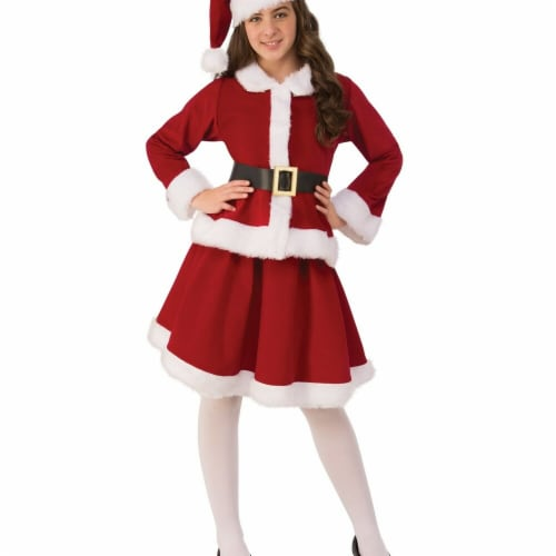 Rubies 275268 Christmas Girls Miss Claus Costume - Small Perspective: front