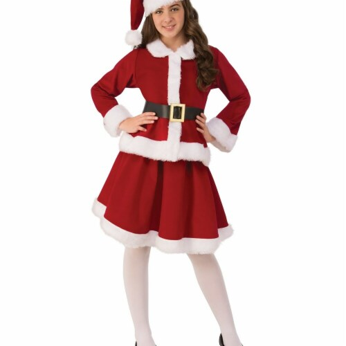 Rubies 275269 Christmas Girls Miss Claus Costume - Medium Perspective: front
