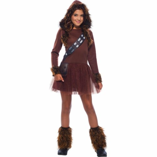 Rubies 279108 Halloween Star Wars Girls Classic Chewbacca Costume - Large Perspective: front