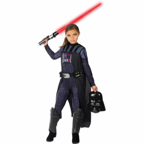 Rubies 279103 Halloween Star Wars Classic Darth Vader Girls Costume - Medium Perspective: front