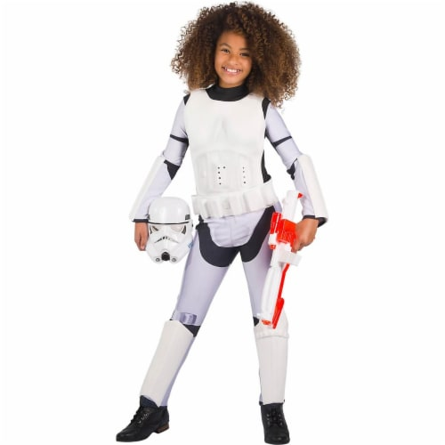 Rubies 279107 Halloween Star Wars Classic Girls Stormtrooper Costume - Small Perspective: front