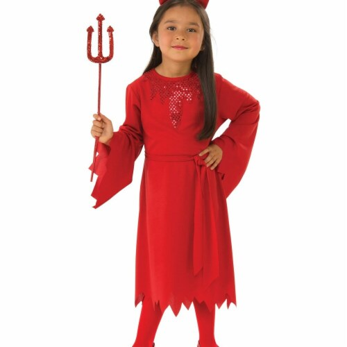 Rubies 279114 Halloween Girls Devil Costume - Large Perspective: front