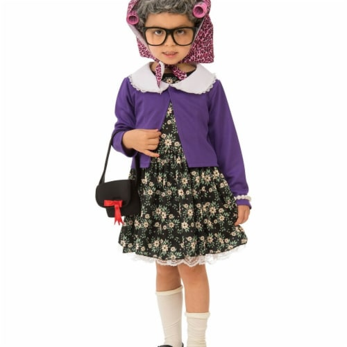 Rubies 278689 Halloween Girls Little Old Lady Costume - Medium Perspective: front