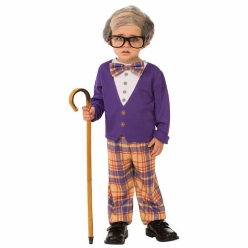 Rubies 278693 Halloween Boys Little Old Man Costume - Small Perspective: front
