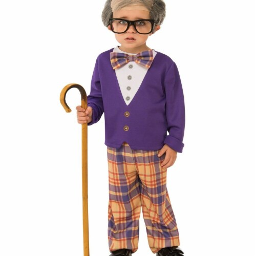 Rubies 278692 Halloween Boys Little Old Man Costume - Medium Perspective: front