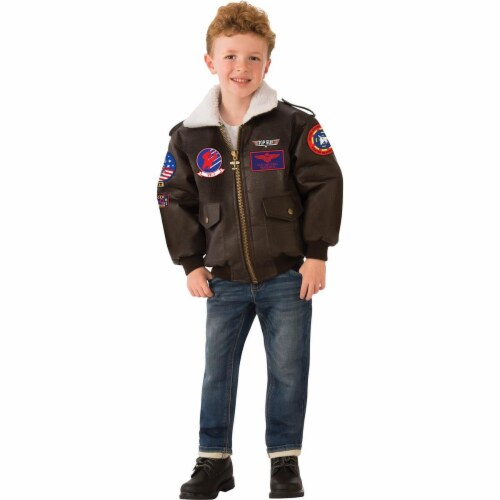 Rubies 279129 Halloween Top Gun Childrens Bomber Jacket - Extra Small Perspective: front