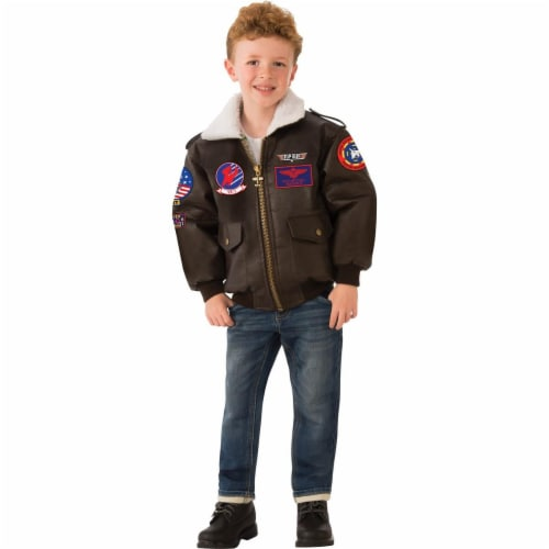 Rubies 279127 Halloween Top Gun Childrens Bomber Jacket - Medium Perspective: front