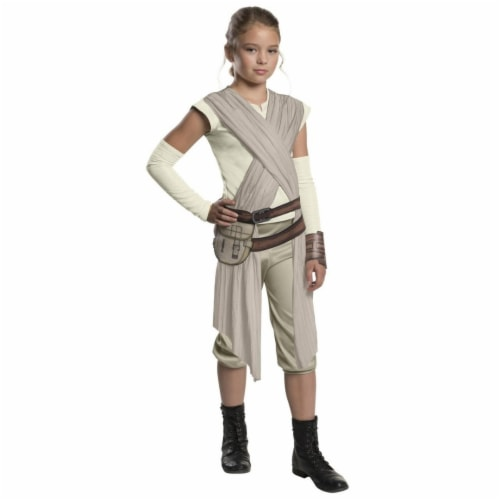 Rubies Costume 281168 Star Wars - Forces of Destiny- Deluxe Rey of Jakku Girls Costume, Small Perspective: front