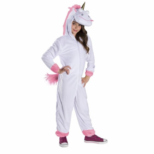 Rubies 279130 Halloween Despicable Me Kids Fluffy Oversized Jumpsuit - Large Perspective: front