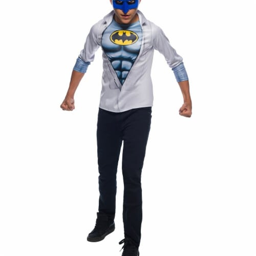 Rubies 279134 Halloween Boys Photo Real Batman Costume Top - Medium Perspective: front