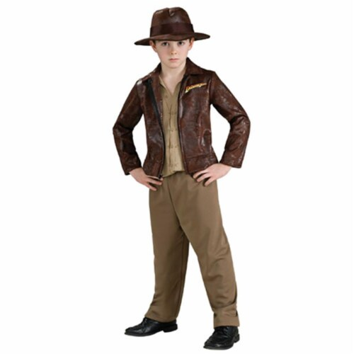 Rubie's Costume Co 33138 Indiana Jones Deluxe Indiana Child Costume Size Small- Boys 4-6 Perspective: front