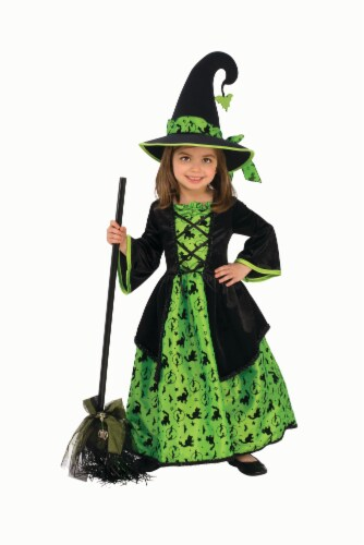 Rubies Costumes Girls Green Witch Costume - Extra Small Perspective: front