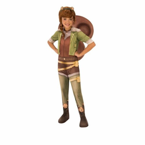 Rubies 404356 Girls Marvel Rising Secret Warriors Squirrel Costume, Small Perspective: front
