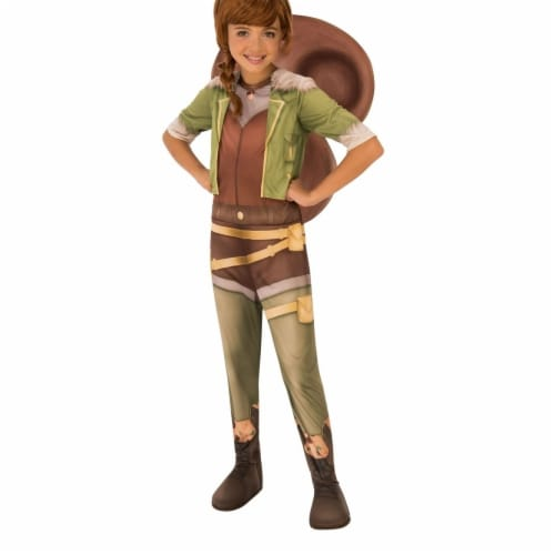Rubies 404355 Girls Marvel Rising Secret Warriors Squirrel Costume, Medium Perspective: front