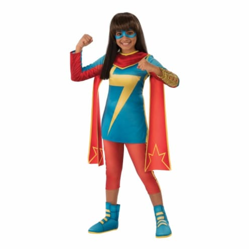 Rubies 404359 Girls Marvel Rising Secret Warriors Ms. Marvel Child Costume, Small Perspective: front