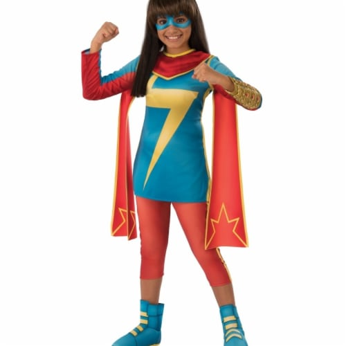 Rubies 404358 Girls Marvel Rising Secret Warriors Ms. Marvel Child Costume, Medium Perspective: front
