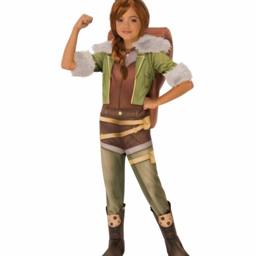 Rubies 404363 Girls Marvel Rising Secret Warriors Deluxe Squirrel Costume, Large Perspective: front