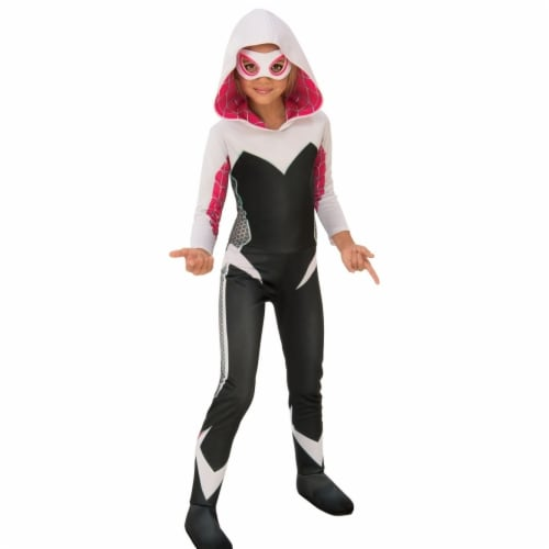 Rubies Girls Marvel Rising Secret Warriors Deluxe Spider Gwen & Ghost Spider Child Costume Perspective: front