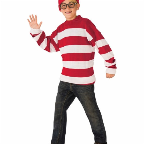 Rubie's Costumes 279227 Wheres Waldo Deluxe Child Costume, Small Perspective: front