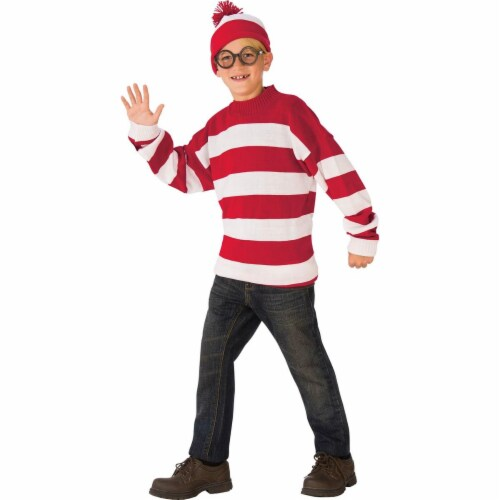 Rubies Costumes 279225 Wheres Waldo Deluxe Child Costume, Large Perspective: front