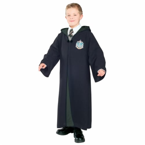 Rubies RU884258SM Slytherin Deluxe Child Harry Potter Costume, Small Size 4-6 Perspective: front