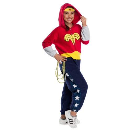 Rubies 404569 Girls DC Super Heroes Wonder Woman Child Costume, Large Perspective: front