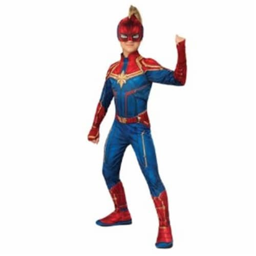 BuySeasons 402230 Girls Captain Marvel Hero Suit Costume, Large Perspective: front