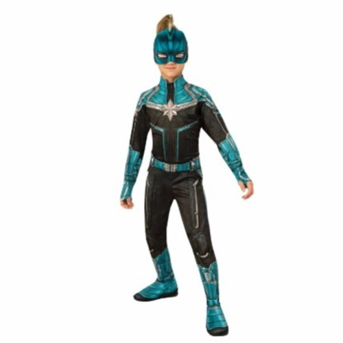 BuySeasons 402233 Girls Captain Marvel Kree Suit Costume, Large Perspective: front