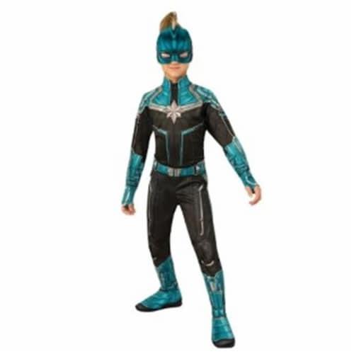 BuySeasons 402232 Girls Captain Marvel Kree Suit Costume, Medium Perspective: front