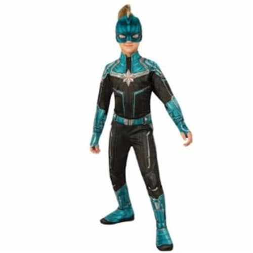 BuySeasons 402231 Girls Captain Marvel Kree Suit Costume, Small Perspective: front