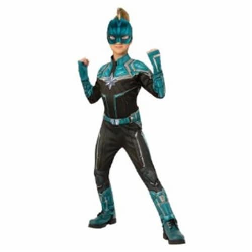 BuySeasons 402239 Girls Captain Marvel Deluxe Kree Suit Costume, Large Perspective: front