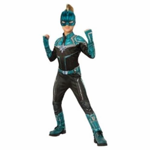 BuySeasons 402238 Girls Captain Marvel Deluxe Kree Suit Costume, Medium Perspective: front