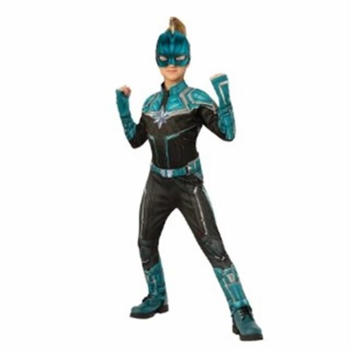 BuySeasons 402237 Girls Captain Marvel Deluxe Kree Suit Costume, Small Perspective: front