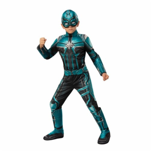 Rubies 404613 Girls Captain Marvel Yon-Rogg Deluxe Child Costume, Large Perspective: front