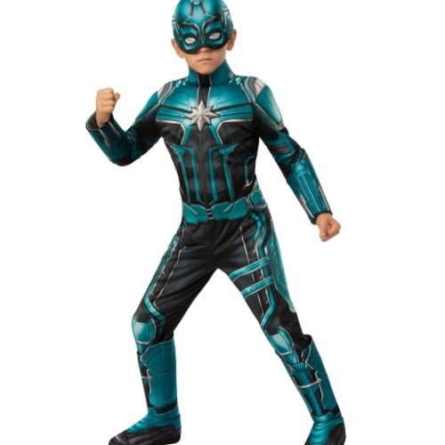 Rubies 404615 Girls Captain Marvel Yon-Rogg Deluxe Child Costume, Small Perspective: front